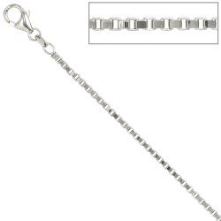 Venezianerkette 925 Silber 1,8 mm 60 cm Halskette Kette Silberkette Karabiner