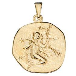 Anhänger Sternzeichen Jungfrau 333 Gold Gelbgold Sternzeichenanhänger