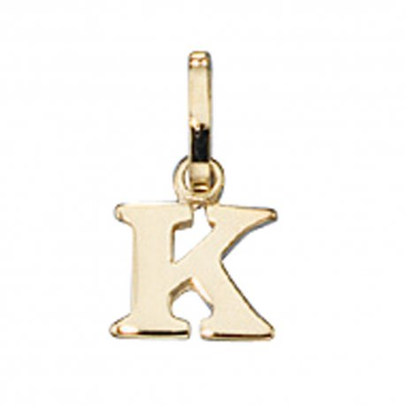 Anhänger Buchstabe K 333 Gold Gelbgold Buchstabenanhänger