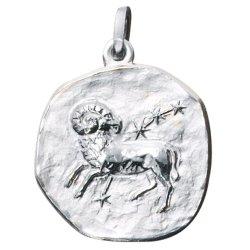 Anhänger Sternzeichen Widder 925 Sterling Silber matt Sternzeichenanhänger