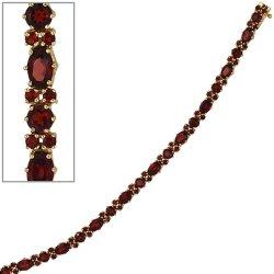 Armband 333 Gold Gelbgold und 72 Granate rot 19 cm Granatarmband