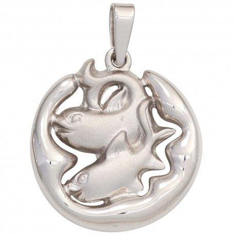 Anhänger Sternzeichen Fische 925 Silber matt Sternzeichenanhänger
