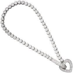 Armband Herz 925 Sterling Silber mit Zirkonia 19 cm Silberarmband