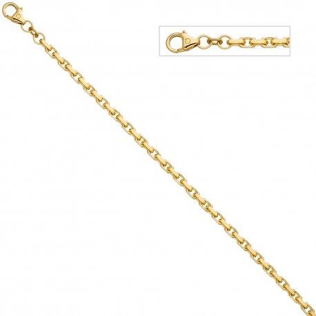 Ankerarmband 585 Gold Gelbgold diamantiert 21 cm Armband Goldarmband