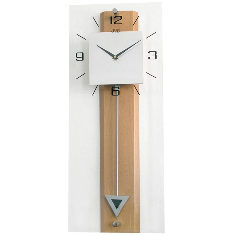 jvd n2233 68 wanduhr quarz mit pendel holz buche farben. Black Bedroom Furniture Sets. Home Design Ideas
