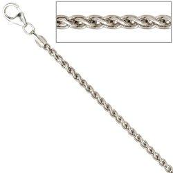 Zopfkette 925 Sterling Silber 2,2 mm 50 cm Halskette Kette Silberkette Karabiner