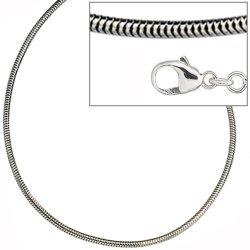 Schlangenkette 925 Silber 1,6 mm 80 cm Halskette Kette Silberkette Karabiner