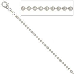 Kugelkette 925 Silber 2,5 mm 60 cm Halskette Kette Silberkette Karabiner