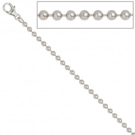 Kugelkette 925 Silber 3,0 mm 45 cm Halskette Kette Silberkette Karabiner