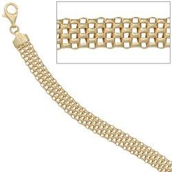 Armband 925 Sterling Silber gold vergoldet 19 cm Karabiner