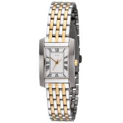 JOBO Damen Armbanduhr Quarz Analog Edelstahl bicolor vergoldet Damenuhr