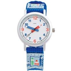 JOBO Kinder Armbanduhr helllbau blau Quarz Analog Aluminium Kinderuhr
