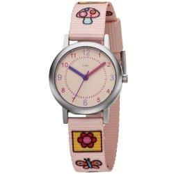 JOBO Kinder Armbanduhr Quarz Analog Kinderuhr rosa
