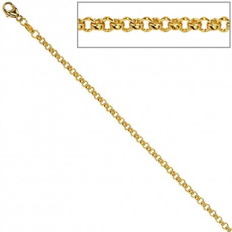 Erbskette 333 Gelbgold 2,5 mm 42 cm Gold Kette Halskette Goldkette Karabiner