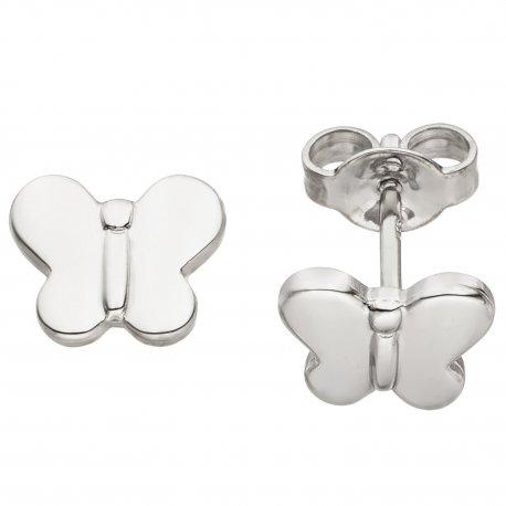 Kinder Ohrstecker Schmetterling 925 Sterling Silber Ohrringe Kinderohrringe