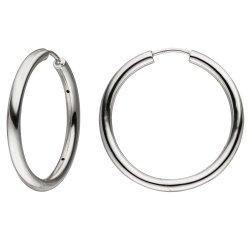 Creolen 925 Sterling Silber Ohrringe Silbercreolen Silberohrringe
