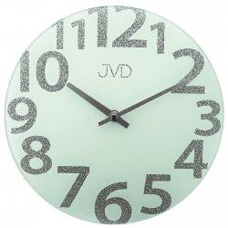 JVD HO138.2 Wanduhr Quarz analog rund modern Milchglas