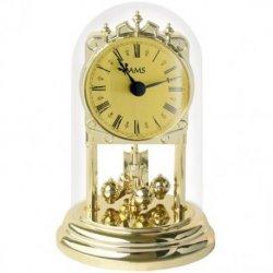 AMS 1103 Tischuhr mit Drehpendel Jahresuhr Drehpendeluhr Messing Optik golden