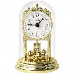AMS 1101 Tischuhr mit Drehpendel Jahresuhr Drehpendeluhr Messing Optik golden