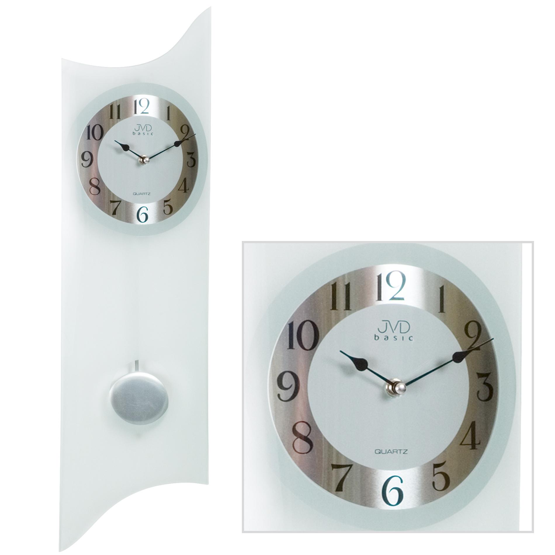jvd n23873 wanduhr quarz mit pendel pendeluhr analog. Black Bedroom Furniture Sets. Home Design Ideas